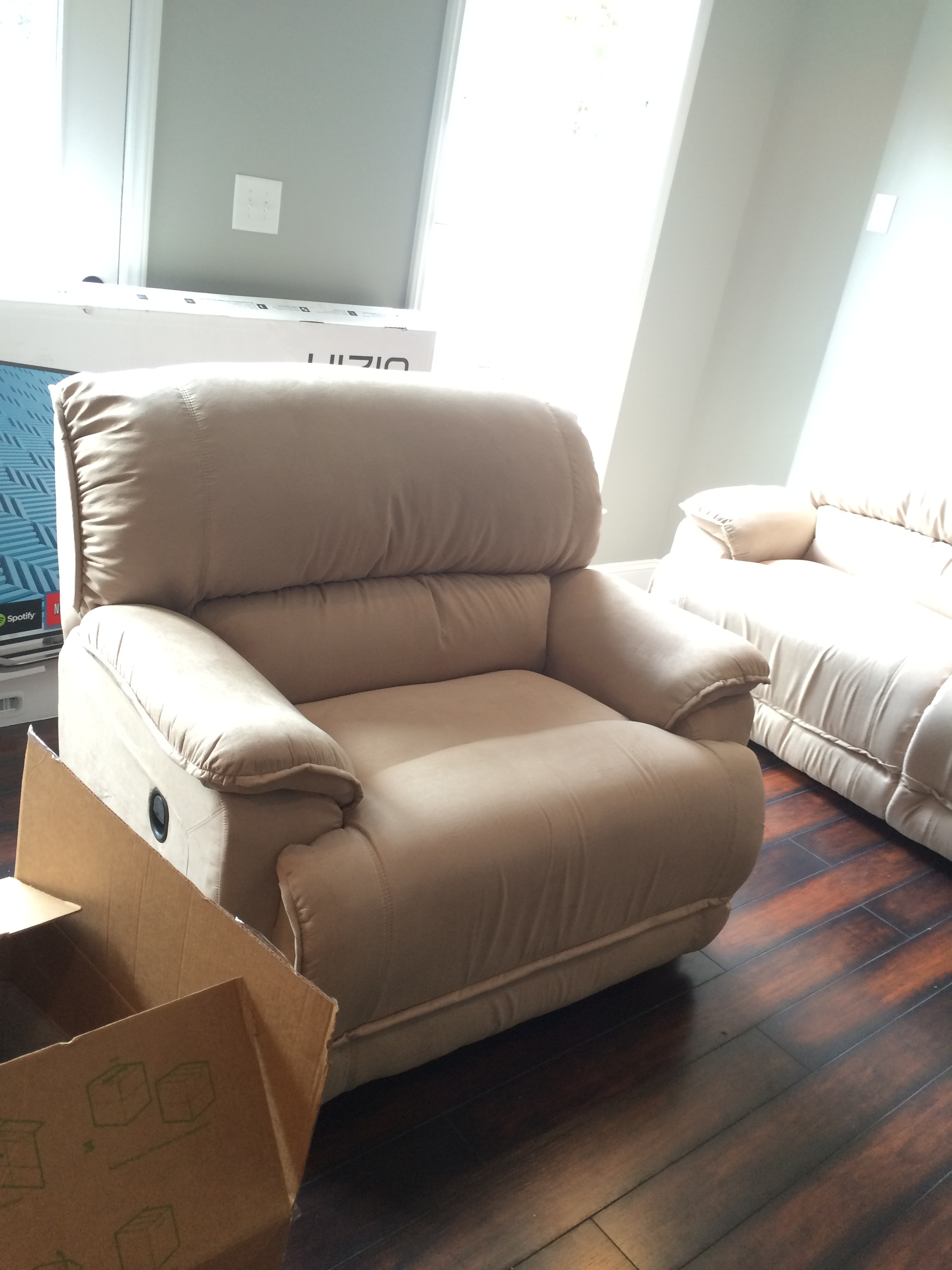 New La-Z-Boy chair-and-a-half (or love seat)