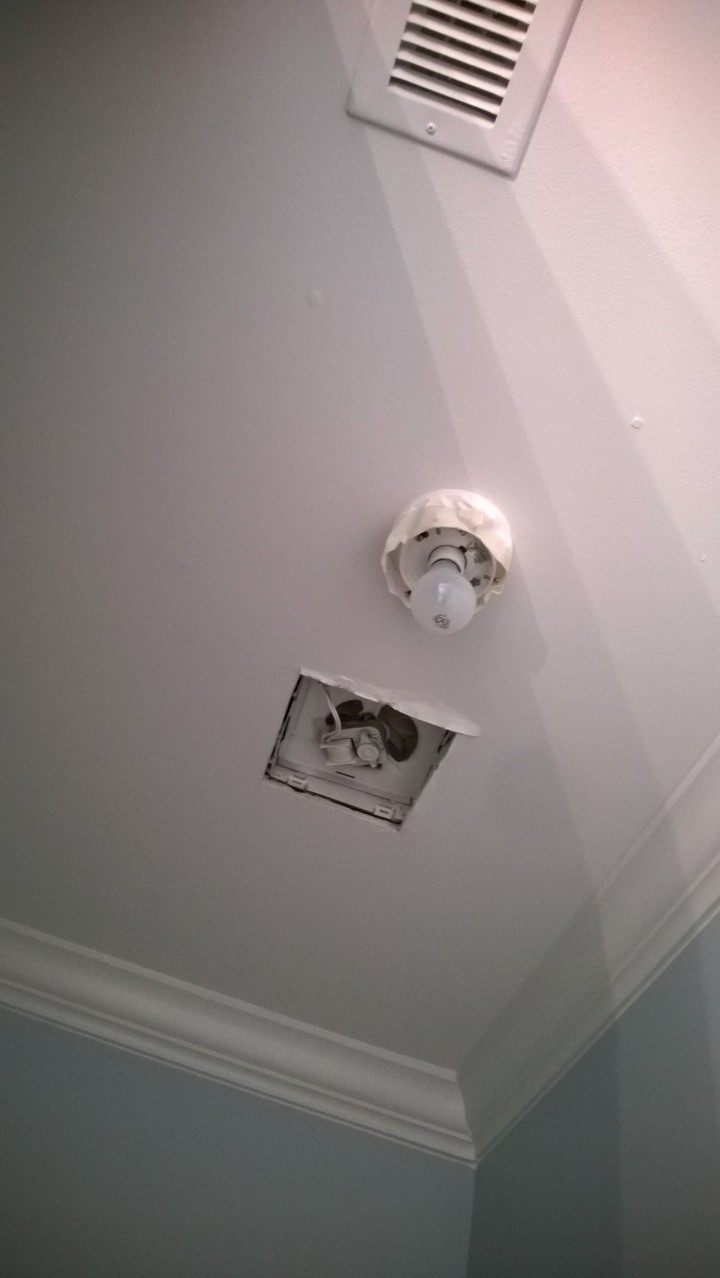 Builder Services - Missing fan and light covers
