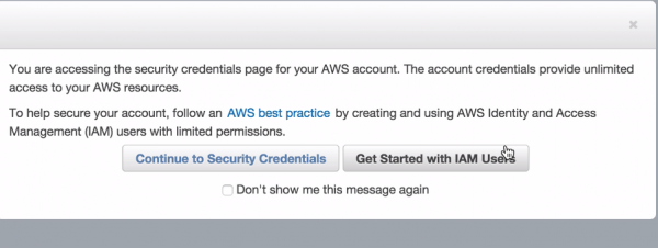 AWS Get Started with IAM Users