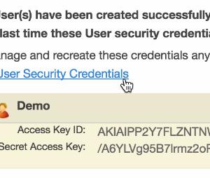 AWS Access Key ID and Secret Access Key
