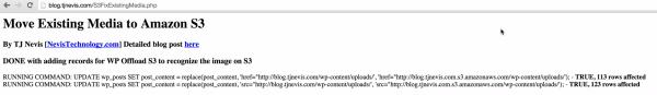 Running WP Offload S3 Existing Media Fix Script