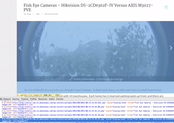 Images in the gallery are successfully being served from the Amazon S3 bucket